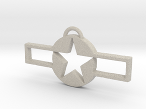 WWII Pendant 2 in Natural Sandstone