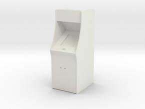 Classic Arcade Machine     in White Natural Versatile Plastic