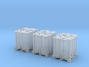 TJ-H02010x3 - Conteneurs 1000l in Smooth Fine Detail Plastic
