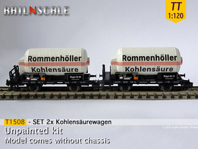 SET 2x Kohlensäurewagen (TT 1:120) in Smooth Fine Detail Plastic