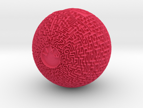 Maze Orb (downloadable) in Pink Processed Versatile Plastic