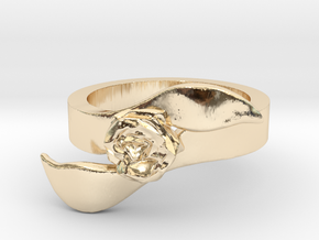 Rose Ring - Size 7 in 14K Yellow Gold: 7 / 54