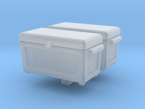 Ice Chest Cooler 2 pack 1-87 HO Scale in Smooth Fine Detail Plastic
