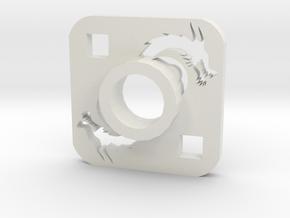Lightsaber Tsuba Dragon in White Natural Versatile Plastic