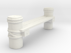 Connector Piece For Wooden Deck for Tabletop Warga in White Natural Versatile Plastic