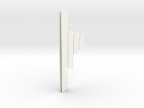 1:10 XJ Cherokee Laredo Moldings in White Strong & Flexible Polished