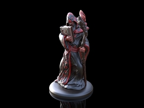 Arcane Wizard miniature in Smooth Fine Detail Plastic
