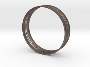 Spring Ring in Polished Bronzed Silver Steel