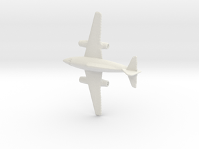 1:285 Me-262 B in White Natural Versatile Plastic