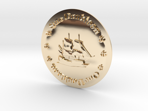 Doubloon in 14K Yellow Gold