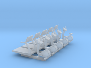 N Scale Fitness Equipment 10pc in Smooth Fine Detail Plastic