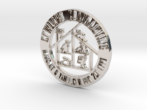 RCS Business Token in Rhodium Plated Brass