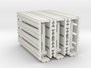 Double Rail System 8 Feet 1-43 Scale 3 Pack in White Natural Versatile Plastic