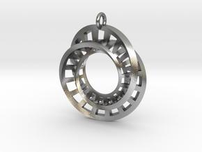 Statement Interlocking Möbius Ladders Pendant in Natural Silver (Interlocking Parts)