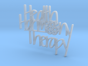 Health Harmony Therapy Logo in Smooth Fine Detail Plastic