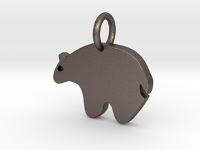 Bear Charm in Stainless Steel