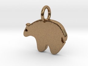 Bear Charm in Natural Brass