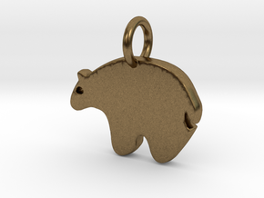 Bear Charm in Natural Bronze
