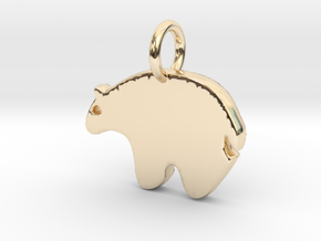 Bear Charm in 14k Gold Plated Brass