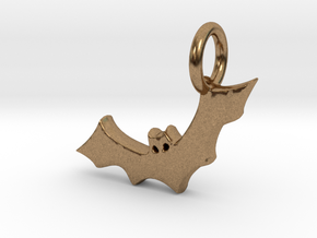 Bat Charm in Natural Brass