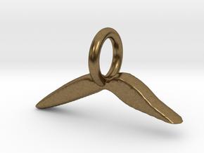 Mustache Charm in Natural Bronze