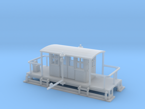 Poling Car Z Scale in Smooth Fine Detail Plastic