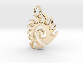 Zerg Charm in 14k Gold Plated Brass