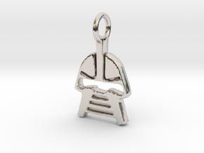 Cylon Charm in Platinum