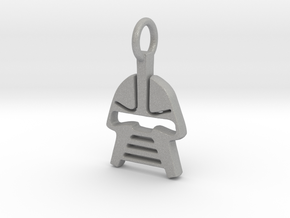 Cylon Charm in Aluminum