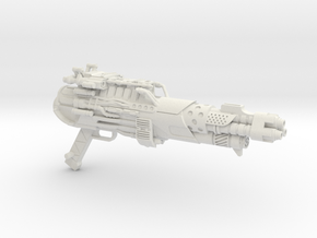 Tri-barrel Blaster for 3A Optimus Prime in White Natural Versatile Plastic