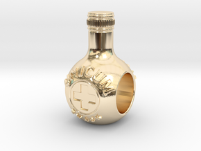 unicum bottle charm in 14K Yellow Gold