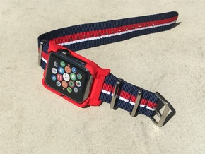 Apple Watch Case - 42mm For 24mm NATO / RAF Strap  in Red Processed Versatile Plastic