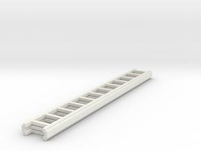 1/87 Ground Ladder #3 in White Natural Versatile Plastic