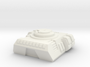 RUMV-Combat Flatbed Turret Pod in White Strong & Flexible