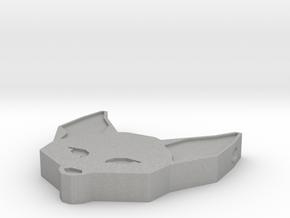 Fennec Fox Geometric Pendant in Aluminum: Large