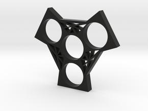 Fidget Spinner 5 in Black Strong & Flexible