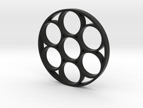 Fidget Spinner 6 in Black Strong & Flexible
