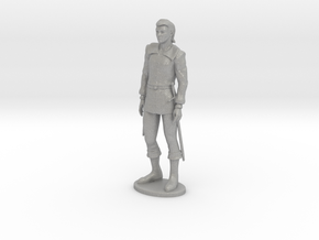 Half-Elf Miniature in Raw Aluminum: 1:55