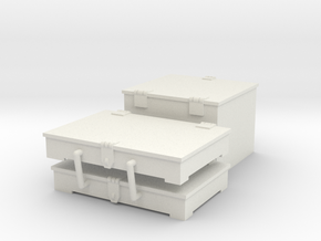 1/16 M31 Front stowage boxes. in White Natural Versatile Plastic