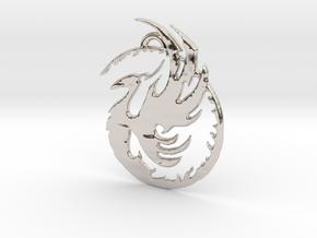 Phoenix 1 in Rhodium Plated Brass