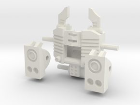 """Another Dimensional bots """"KWAGGA"""" (parts set A) in White Natural Versatile Plastic"""