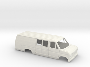 6cmX16.8cm 1975-91 Ford E-Series Delivery Van Exte in White Strong & Flexible