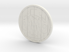 """BotW"" Fisherman's Shield in White Natural Versatile Plastic: 1:12"