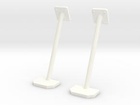 1.4 SIDE STEPS PLAT HUGHES 500 in White Processed Versatile Plastic