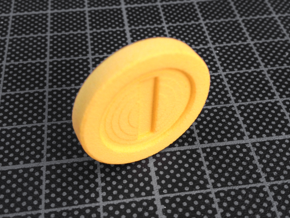 Super Mario Bros. inspired Coin in Yellow Processed Versatile Plastic