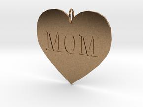 Mom Pendant in Natural Brass