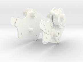 Apollo LM Control Arm Connectors 1:1 in White Processed Versatile Plastic
