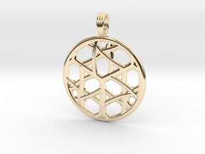 CELTIC CUBE in 14k Gold Plated Brass