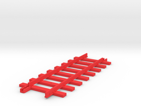 Tri-ang Big Big Train Track 8 Sleepers in Red Processed Versatile Plastic