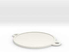 Bracelet medallion in White Natural Versatile Plastic: 1:10